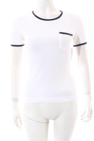 Polo Ralph Lauren Strickshirt weiß-dunkelblau sportlicher Stil