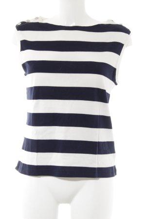 Polo Ralph Lauren Knitted Top white-dark blue striped pattern navy look