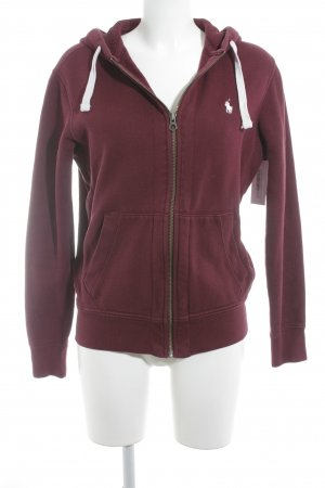 Polo Ralph Lauren Sweat Jacket bordeaux casual look