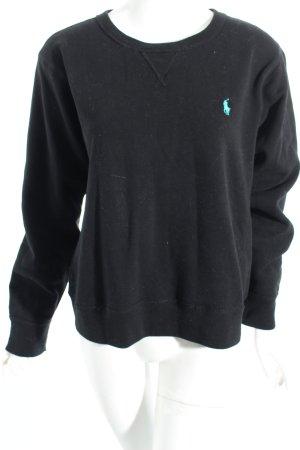 Polo Ralph Lauren Sweatshirt schwarz Skater-Look