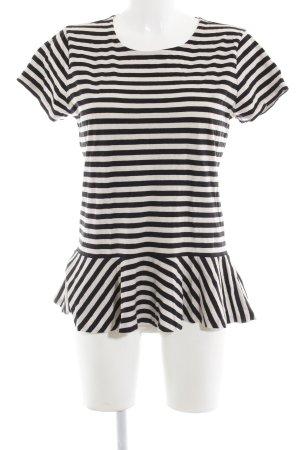 Polo Ralph Lauren T-Shirt creme-schwarz Streifenmuster Casual-Look