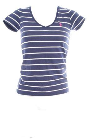 Polo Ralph Lauren T-Shirt dunkelblau Streifenmuster Casual-Look