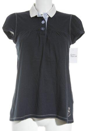 Polo Ralph Lauren T-shirt donkerblauw-wit gestippeld patroon casual uitstraling