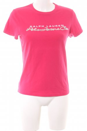 Polo Ralph Lauren T-Shirt pink-silberfarben Schriftzug gedruckt Casual-Look