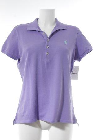 Polo Ralph Lauren T-Shirt lila Street-Fashion-Look