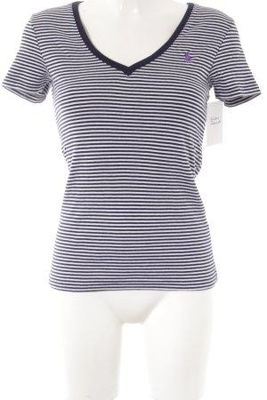 Polo Ralph Lauren T-Shirt weiß-dunkelblau Streifenmuster Casual-Look