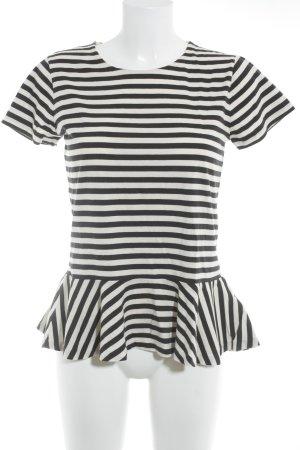 Polo Ralph Lauren T-Shirt weiß-schwarz Streifenmuster Casual-Look