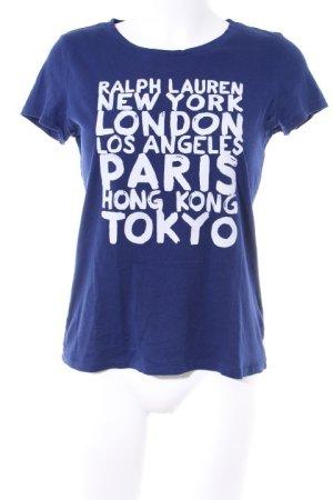 Polo Ralph Lauren T-Shirt wollweiß-blau Schriftzug gedruckt Casual-Look