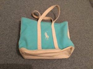 Polo Ralph Lauren Borsellino bianco sporco-azzurro Lino
