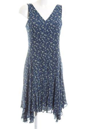 Polo Ralph Lauren Trägerkleid blau Allover-Druck Casual-Look