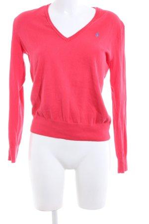 Polo Ralph Lauren V-Ausschnitt-Pullover pink Casual-Look