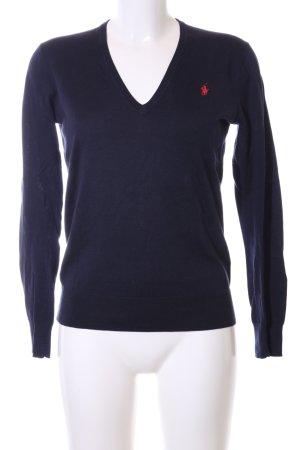 Polo Ralph Lauren V-Ausschnitt-Pullover blau Business-Look