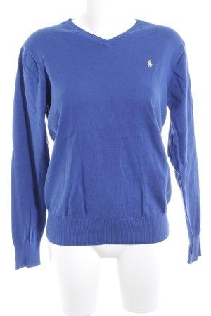 Polo Ralph Lauren V-Ausschnitt-Pullover blau Casual-Look