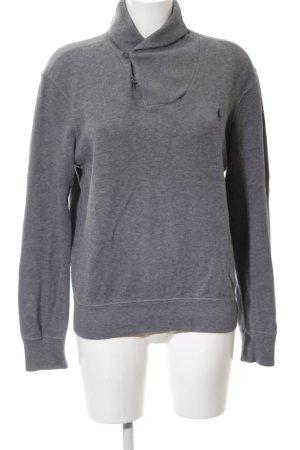 Polo Ralph Lauren V-Ausschnitt-Pullover hellgrau Casual-Look
