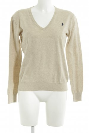 Polo Ralph Lauren V-Ausschnitt-Pullover creme Casual-Look