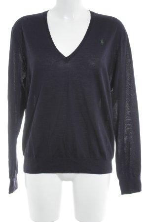Polo Ralph Lauren V-Ausschnitt-Pullover dunkelblau Casual-Look