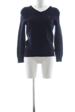 Polo Ralph Lauren V-Ausschnitt-Pullover dunkelblau klassischer Stil