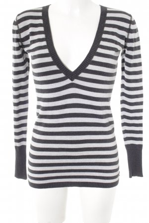 Polo Ralph Lauren V-Neck Sweater dark grey-light grey striped pattern