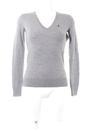 Polo Ralph Lauren V-Ausschnitt-Pullover grau Casual-Look