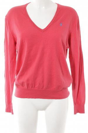 Polo Ralph Lauren V-Neck Sweater bright red-purple casual look