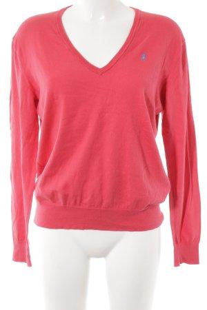 Polo Ralph Lauren V-Ausschnitt-Pullover hellrot-helllila Casual-Look