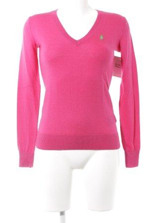 Polo Ralph Lauren V-Ausschnitt-Pullover magenta Casual-Look
