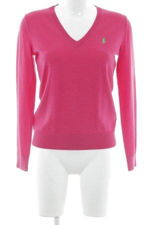 """Polo Ralph Lauren V-Ausschnitt-Pullover """"Polo Golf"""" magenta"""