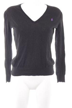 Polo Ralph Lauren V-Ausschnitt-Pullover schwarz Casual-Look