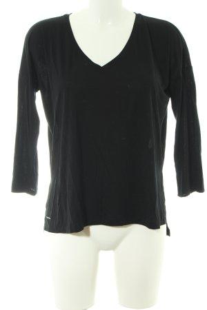 Polo Ralph Lauren V-Ausschnitt-Shirt schwarz Casual-Look