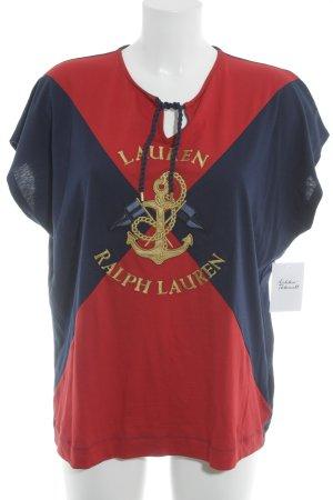 Polo Ralph Lauren V-Ausschnitt-Shirt mehrfarbig Marine-Look