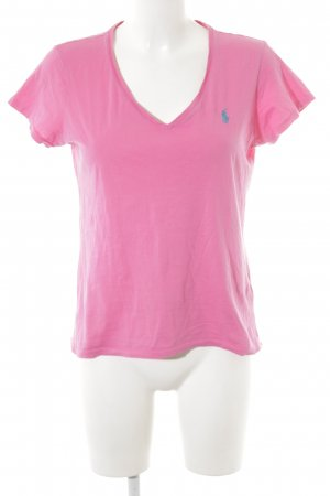 Polo Ralph Lauren V-hals shirt roze casual uitstraling
