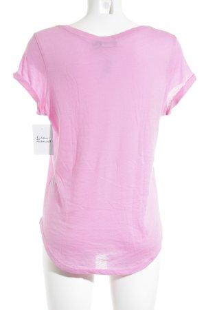 Polo Ralph Lauren V-Ausschnitt-Shirt pink-türkis Casual-Look
