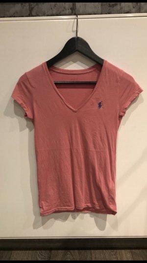 Polo Ralph Lauren V-Ausschnitt T-Shirt rosa
