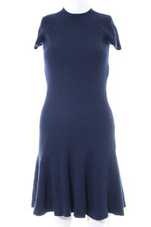 Polo Ralph Lauren Wollen jurk donkerblauw casual uitstraling