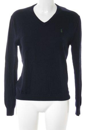 Polo Ralph Lauren Wollpullover dunkelblau College-Look