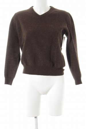 Polo Ralph Lauren Wollpullover dunkelbraun meliert schlichter Stil
