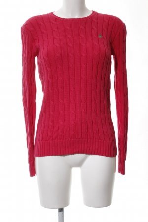 Polo Ralph Lauren Cable Sweater red cable stitch casual look