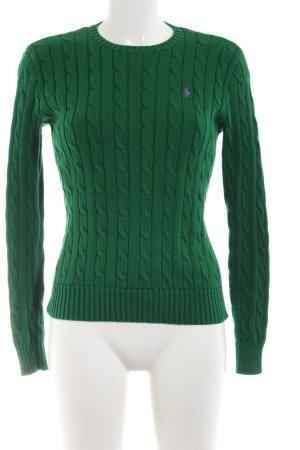 Polo Ralph Lauren Jersey trenzado verde punto trenzado look casual