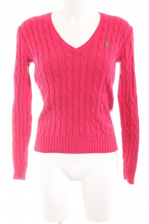 Polo Ralph Lauren Cable Sweater pink cable stitch casual look