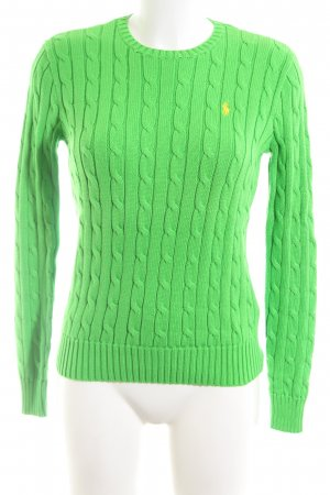 Polo Ralph Lauren Cable Sweater green cable stitch casual look