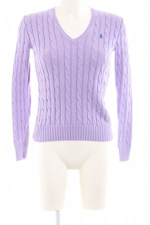 Polo Ralph Lauren Cable Sweater lilac cable stitch casual look