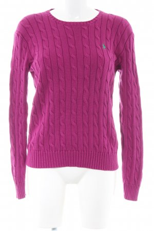 Polo Ralph Lauren Jersey trenzado rosa punto trenzado look casual