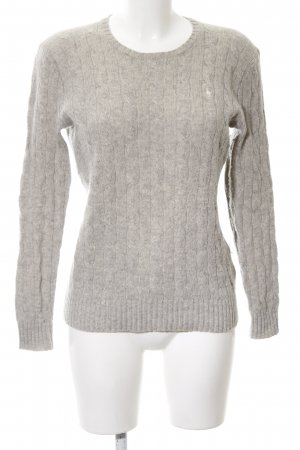 Polo Ralph Lauren Cable Sweater light grey cable stitch casual look