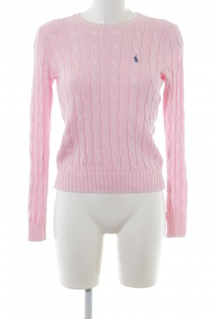 Polo Ralph Lauren Cable Sweater light pink cable stitch casual look