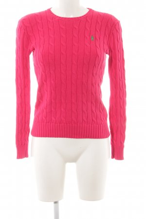 Polo Ralph Lauren Cable Sweater pink cable stitch classic style