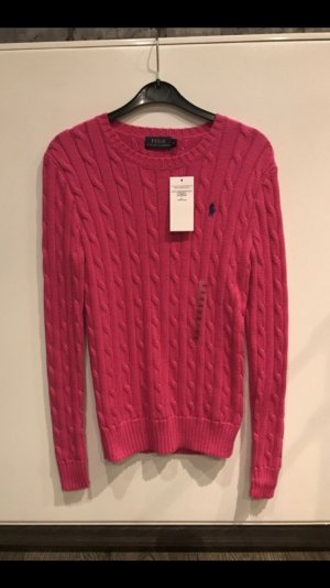 Polo Ralph Lauren Zopfstrick Pullover pink neu mit Etikett