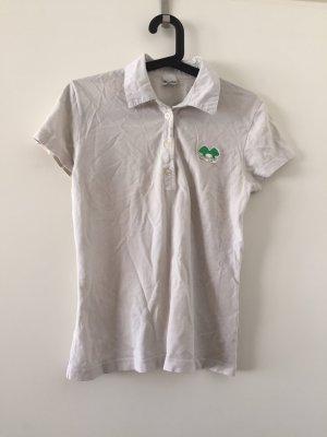 Marc O'Polo Polo shirt wit-bos Groen Katoen