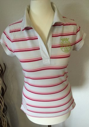 Tommy Hilfiger Polo Shirt white-pink cotton