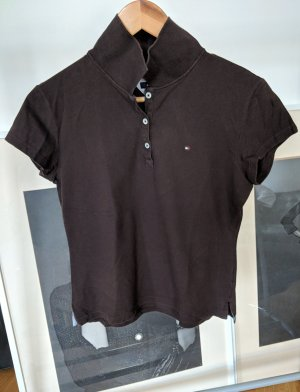 Tommy Hilfiger Top Polo marron clair-brun coton