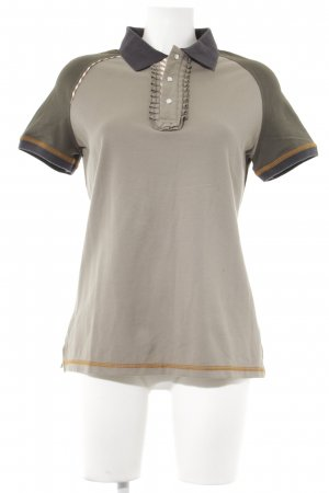Camiseta tipo polo multicolor look casual